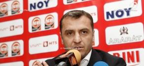 Press conference of Armenian national football team coach Vardan Minasyan after Armenia-Bulgaria match