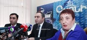 Press conferenc eof Arman Araratyan, Babken Pipoyan and Donara Alexanyan