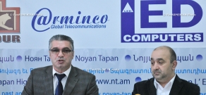 Press conference of Armenia's Medicine Producers and Importers Union chairman Samvel Zakaryan and Director of Likvor CJSC Sergey Matevosyan