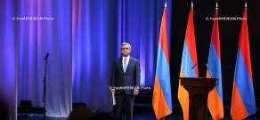 RA President Serzh Sragsyan attends the jubilee event, dedicated to 70th anniversary of National Academy of Sciences of Armenia