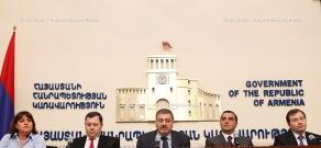 RA Govt. Joint press conference of Nerses Yeritsyan, Vache Gabrielyan, Artem Asatryan and David Sargsyan