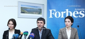 Press conference on the launch of the Armenian edition of Forbes