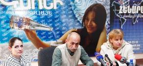 Press conference of Ashot Khudoyan, who went on sit-down strike, and his lawyer Seda Safaryan