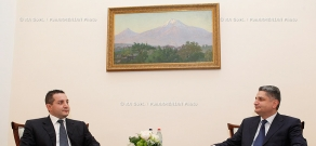 RA Govt. Prime minister Tigran Sargsyan receives the representatives of Toto Holding