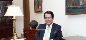 RA Minister of Foreign Affairs Edward Nalbandyan receives Deputy Foreign Minister of Japan Hisashi Tokunaga