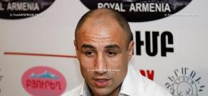 Press conference of boxer Arthur Abraham