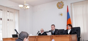 Court session. The acquitted over Mataghis case against Gagik Jhangiryan