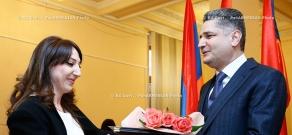 RA Govt: Prime Minister Tigran Sargsyan hosts a reception for mass media representatives