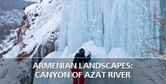 Armenian landscapes: Canyon of Azat river, Ararat Province