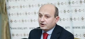 Press conference of Heritage Party secretary Styopa Safaryan