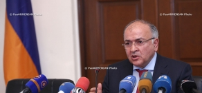 Press conference of the First Deputy Minister of Territorial Administration Vache Terteryan