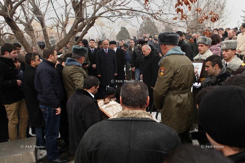 Funeral of Sergeant Armen Hovhannisyan, killed in Azerbaijani attack