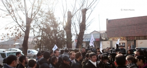 Electric Networks of Armenia employees protest against mandatory pension savings