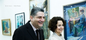 RA Govt.: Prime Minister Tigran Sargsyan attends opening of the exhibition of young professional artists at Armenia's Union of Artists