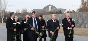 British group of the Inter-Parliamentary Union visited Tsitsernakaberd Memorial