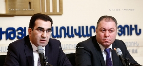 RA Govt.: Press conference of RA deputy ministers of economy Garegin Melkonyan and Tigran Harutyunyan