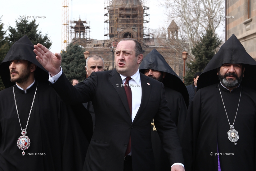 Georgian president Giorgi Margvelashvili visits Etchmiadzin