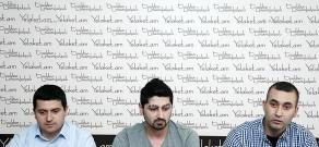 Press conference of I Am Against Initiative members David Manukyan, Artash Arabajyan and Harut Aghlamazyan