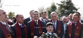 Commemoration of slain defense minister Vazgen Sargsyan at Yerablur