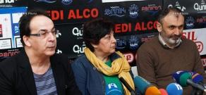 Press conference Mher Mkrtchyan's widow Tamar Hovhannisyan, Armen Martirosyan and Zaven Boyajyan