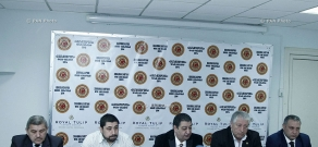 Press conference of representatives of Armenian Association of Professional Martial Artists