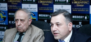 Press conference of  lawyer  Nikolay Baghdasaryan  and Achilles Drivers Rights Protection Center NGO President Eduard Hovhannisyan