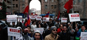 Protest in support of Kessab Armenians