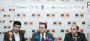 Press conference of NA deputies Tevan Poghosyan, Edmon Marukyan and turkologist Artak Shakaryan