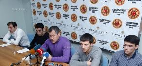 Press conference of Armenian artistic gymnastics team head coach Hakob Serobyan and the gymnasts