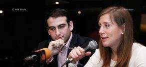 Press conference of famous guitarist Zhora Sargsyan and Austrian flutist Sarah Urena
