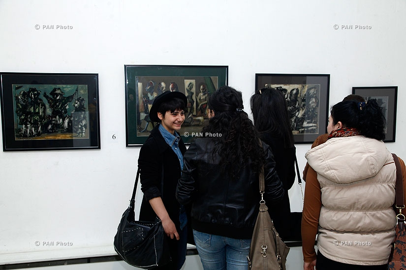 Armenian President's 2013 award Arts nomination finalists' works exhibit