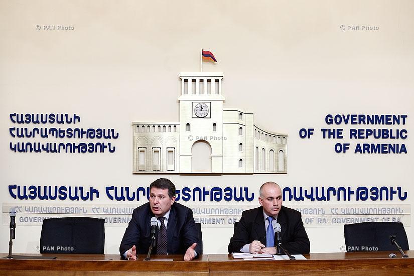 Пресс-конференция министра охраны природы Армении Арама Арутюняна