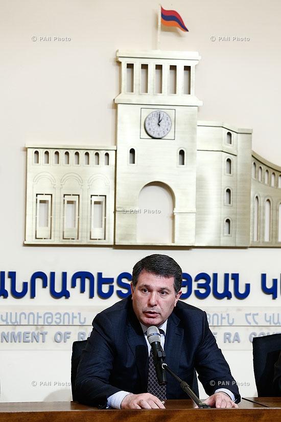 Press conference of Minister of Environment Protection Aram Harutyunyan