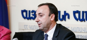 Press conference of Armenian Justice Minister Hrayr Tovmasyan