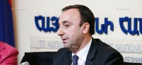 Press conference of Armenian Justice Minister Hrayr Tovmasyan