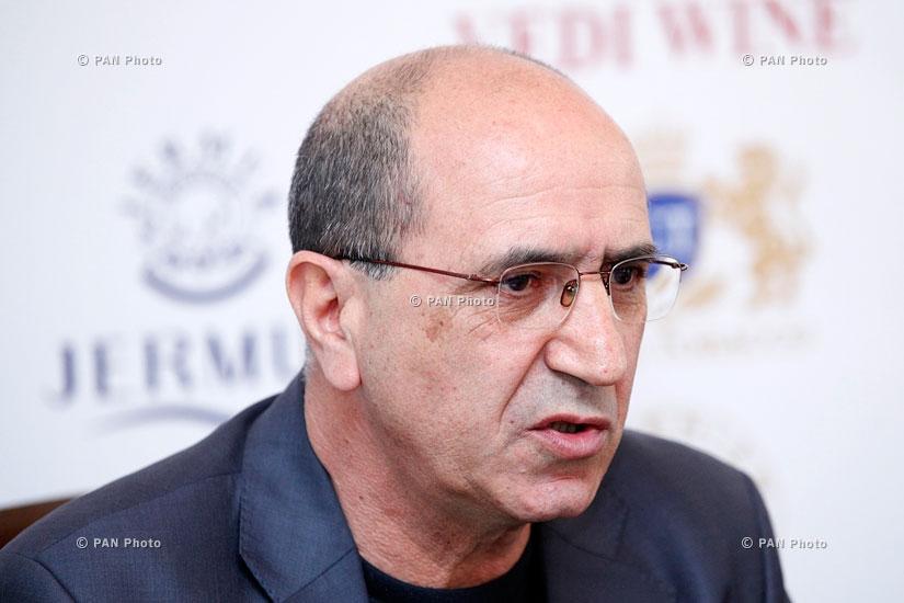 Press conference of National security party leader Garnik Isagulyan