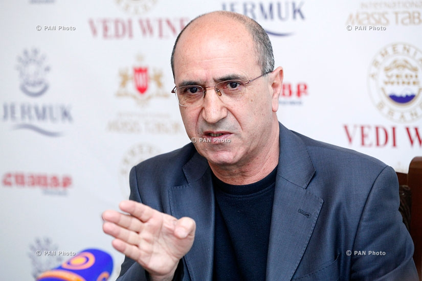 Press conference of National security party leader Garnik Isagulyan