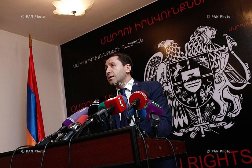 Press conference of Human Rights Defender of Armenia Karen Andreasyan