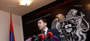 Press conference of Human Rights Defender of Armenia Karen Andreasyan