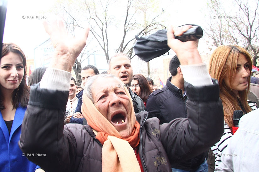 I am Against rally in front of Finance Ministry of Armenia
