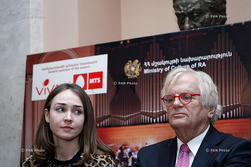 Press conference of Armenian Philharmonic Orchestra and Justus Frantz