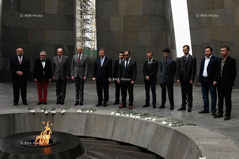 European political and economic leaders laid wreath to Armenian Genocide Memorial