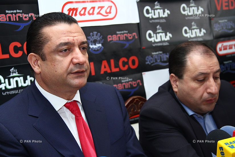 Press conference of Hayk Alumyan, Nikolay Hakobyan and Manvel Ter Arakelyan