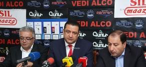 Press conference of Hayk Alumyan, Nikolay Hakobyan and Manvel Ter Arakelyan