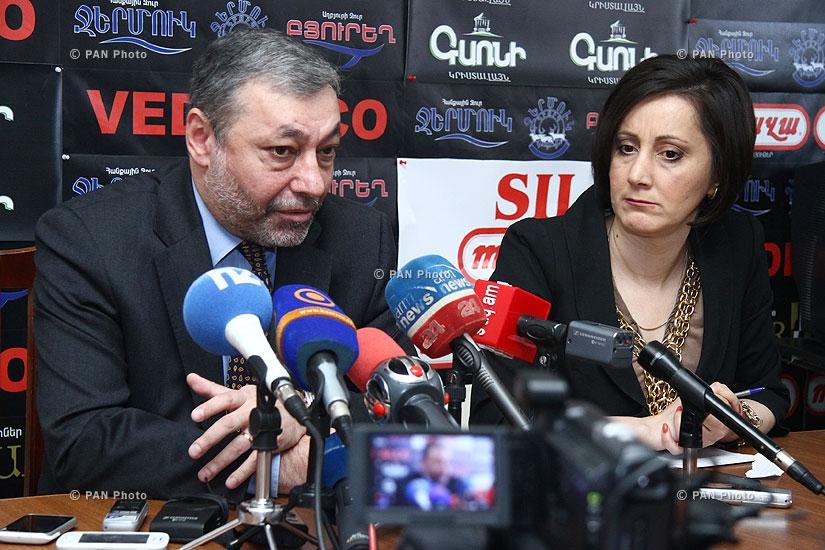 Press conference of Alexander Aruzmanyan