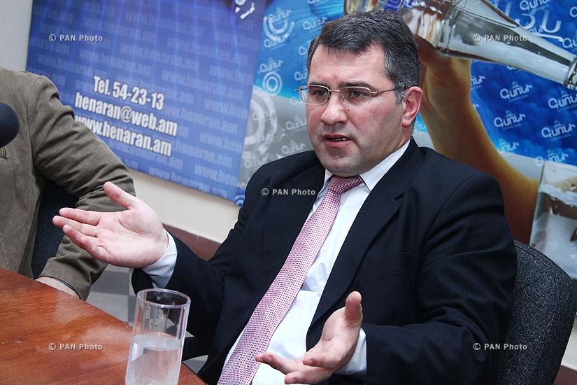 Press conference of Armen Martirosyan and Boris Navasardyan
