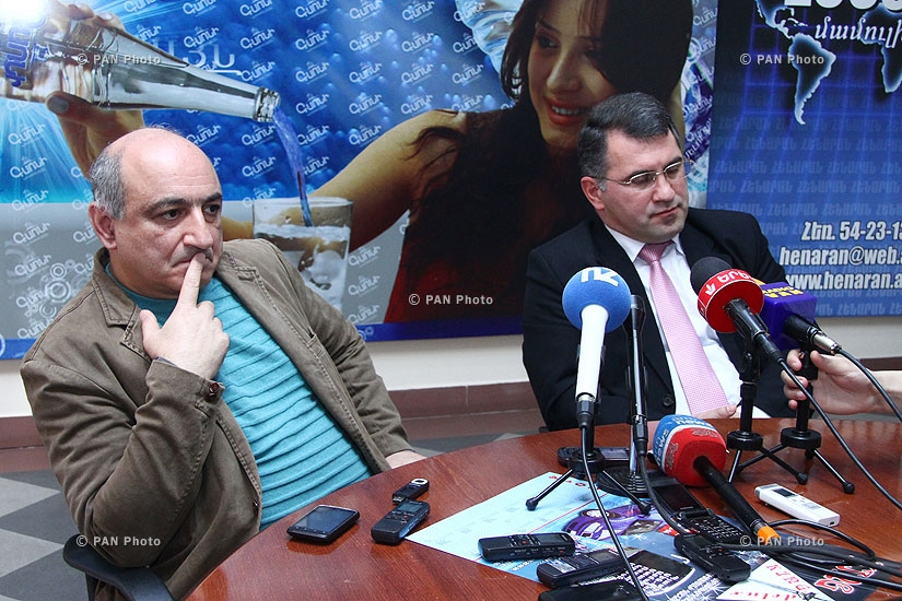 Press conference of Armen Martirosyan and Boris Navasardyan