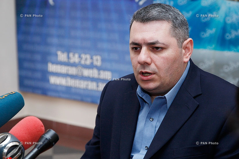 Press conference of political scientist Sergey Minasyan