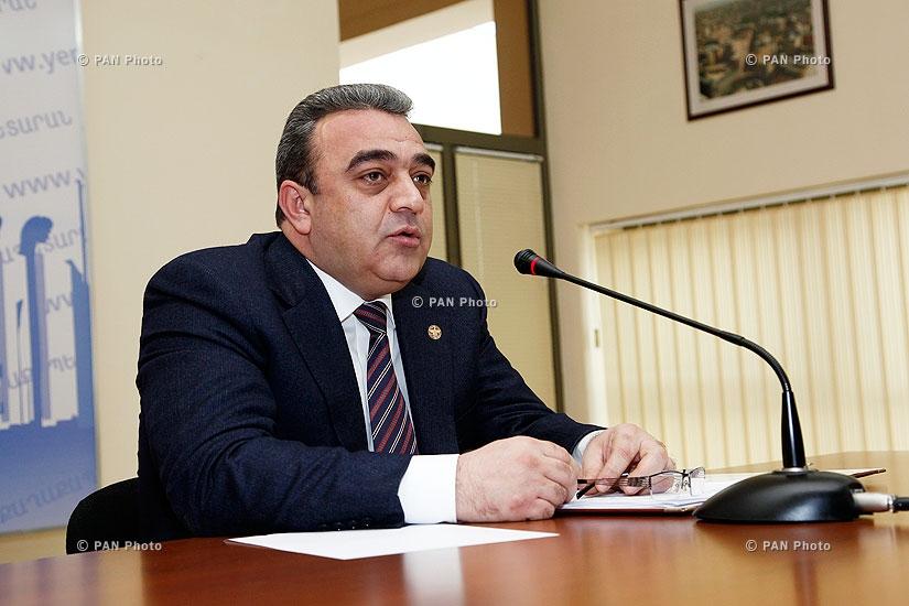 Press conference of Yerevan Vice-Mayor David Ohanyan
