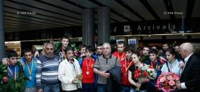 Սամբոյի երիտասարդական հավաքականի ժամանումը Երևան